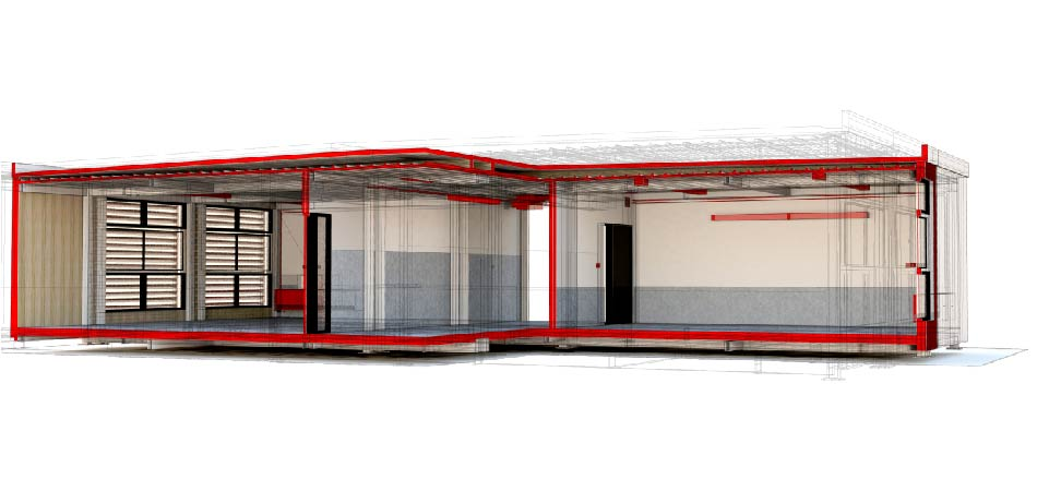 Sección Modelo 3D (IES Tordera)